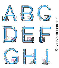 Alphabet Mod Elements A to I