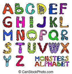 alphabet, monstres
