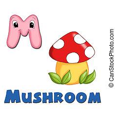 Alphabet, mushroom