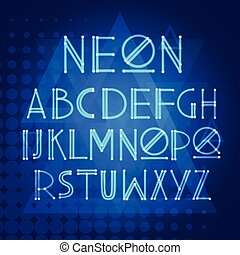 Alphabet Neon Letters Collection Text Lettering Set