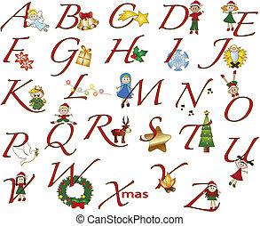 alphabet, noël