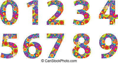 Numbers With Retro Disco Circles