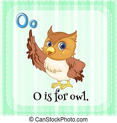 Alphabet O is for owl