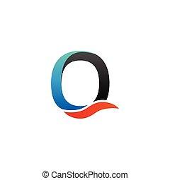 Alphabet o logo graphic template vector