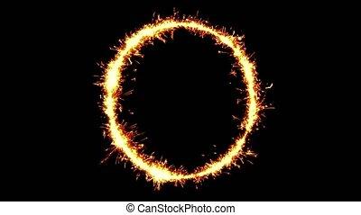 Alphabet O Text Sparkler Glitter Sparks Firework Loop ...