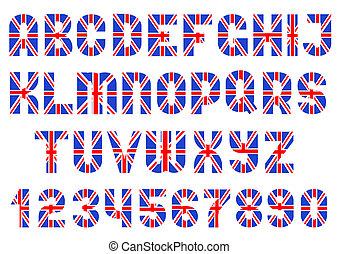 Alphabet of British flag