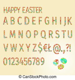 Alphabet   of Easter Eggs Happy Easter vector.eps