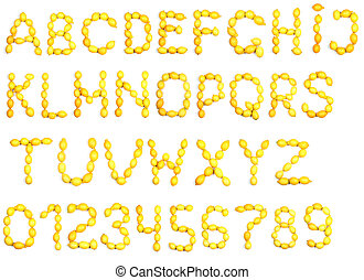 Alphabet of lemon
