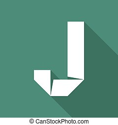 Alphabet paper cut letter - Alphabet paper cut white letter...