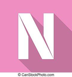 Alphabet paper cut letter