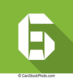 Alphabet paper cut number