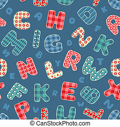 alphabet, pattern., seamless