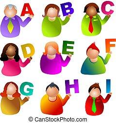 alphabet people