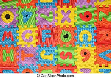alphabet puzzle background