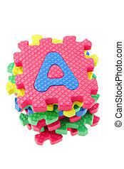 Alphabet puzzle blocks