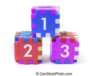 Alphabet Puzzle Cubes