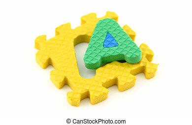Alphabet puzzle letter A