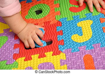 alphabet, puzzle