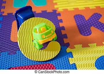 Alphabet puzzle pieces for kids