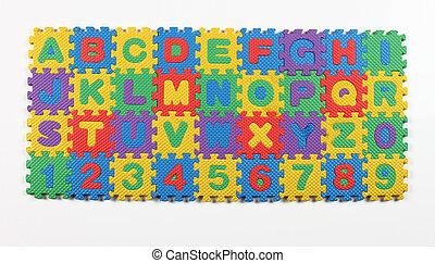 alphabet puzzle with numbers