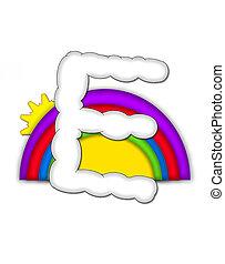 Alphabet Rainbow E