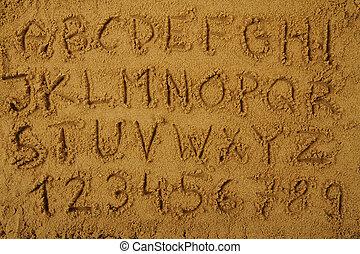 alphabet, sable