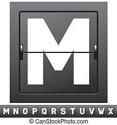 alphabet, scoreboard, mécanique