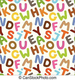 Alphabet seamless pattern.