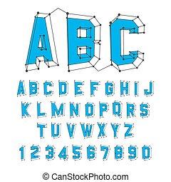 Alphabet set. 3d vector illustration. Design elements. Can...
