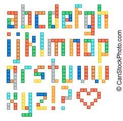 Alphabet set - Alphabet from the multicolor plastic...