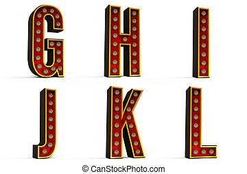 Alphabet Set - lights off