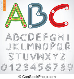 Alphabet set of button slide, vector eps10