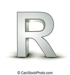 alphabet silver R