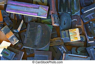 Alphabet stamp, Block letters