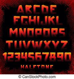 alphabet, stil, grunge