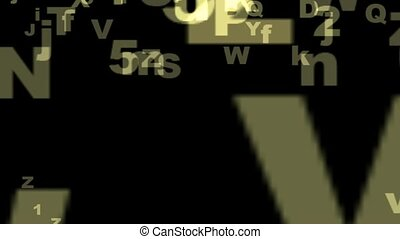 Alphabet - Particles generated with Crystal Pictures...
