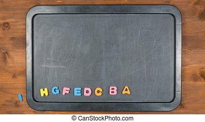 alphabet stop motion animation with foam letters - Alphabet...