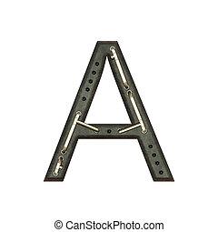 Alphabet technically, Letter A