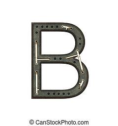 Alphabet technically, Letter B