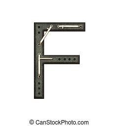 Alphabet technically, Letter F