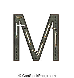 Alphabet technically, Letter M