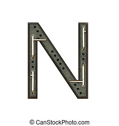 Alphabet technically, Letter N