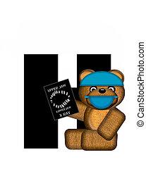 Alphabet Teddy Dental Checkup H