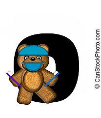 Alphabet Teddy Dental Checkup O