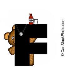 Alphabet Teddy Doctor Visit F