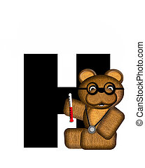Alphabet Teddy Doctor Visit H