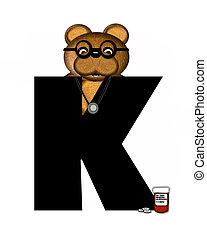 Alphabet Teddy Doctor Visit K