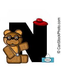Alphabet Teddy Doctor Visit N