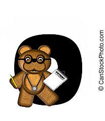 Alphabet Teddy Doctor Visit O