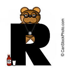 Alphabet Teddy Doctor Visit R